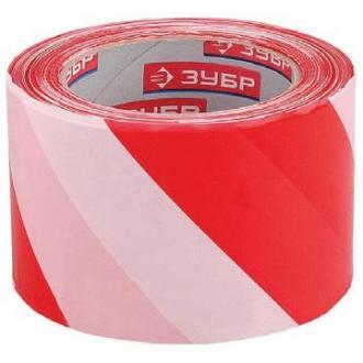 Лента сигнальная 75х200м, красно-белая - Officedom (1)