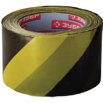 Лента сигнальная 75х200м, желто-черная - Officedom (1)