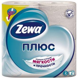 Бумага туалетная Zewa Плюс, 4 шт/<wbr>уп, 2 сл., белая - Officedom (1)