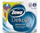 Бумага туалетная Zewa Deluxe, 4 шт/уп., 3 сл., белая | OfficeDom.kz