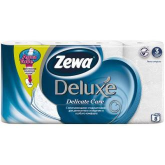 Бумага туалетная Zewa Deluxe, 8 шт/<wbr>уп., 3 сл., Delicate Care - Officedom (1)
