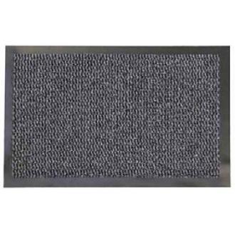 Коврик резиновый с ковролином Faro 04, 90х150 см, темно-серый - Officedom (1)