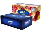 """Салфетки косметические """"Selpak Maxi"""", 150 штук/упак."""