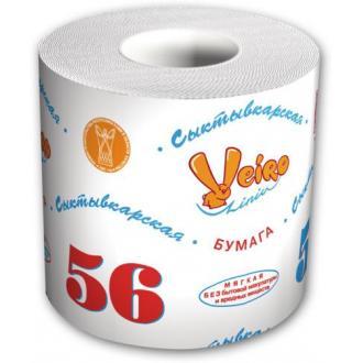 """Бумага туалетная Veiro Сыктывкарская """"56 Метров"""", 1-слойная, белая - Officedom (1)"""