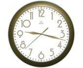 Часы настенные Вега П1-8/7-215, d-29 см, белый фон, золотистое кольцо | OfficeDom.kz