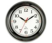 Часы настенные Вега П6-6-18, d-23 см, белый фон, черное кольцо | OfficeDom.kz