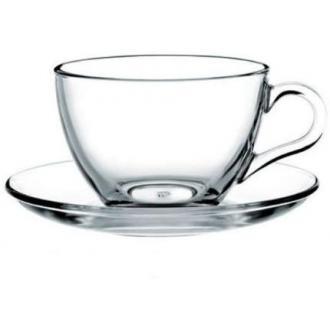 Набор чайный Pasabahce BASIC, чашка с блюдцем на 6 персон, 230 мл, стекло, прозрачный - Officedom (1)