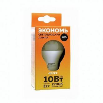 Лампа светодиодная СТАРТ LED GLS, E27, 10 Вт, 2700К, 800 лм, теплый свет - Officedom (1)