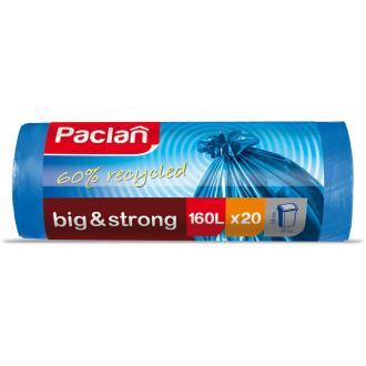 Мешки для мусора Paclan Big&Strong 160л.; 20шт/<wbr>уп, сверхпрочные, синий - Officedom (1)
