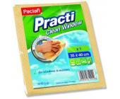 Салфетка д/мытья окон Paclan Practi Clean Window, 35х40см, искусcтвенная замша, 1 шт/уп