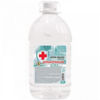 Мыло жидкое Аура, бидон, 5 л, антибактериальное - Officedom (1)