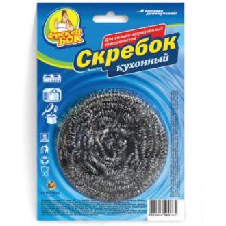 Губка спиральная д/<wbr>посуды Скребок металлическая, 1 шт/<wbr>уп - Officedom (1)