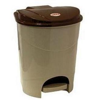 Бак для мусора с педалью, 11л, бежевый мрамор (М2891) - Officedom (1)