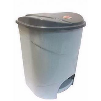 Бак для мусора с педалью, 11л, мрамор (М2891) - Officedom (1)