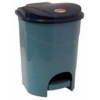 Бак для мусора с педалью, 11л, голубой мрамор (М2891) - Officedom (1)