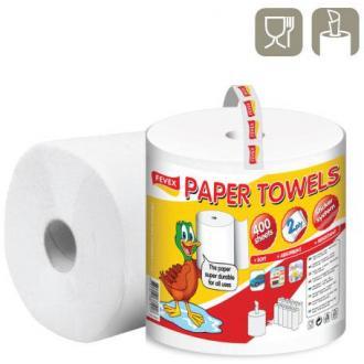 Бумажные полотенца, белые, Утенок, 100м,1 рул./<wbr>упак., 400 л. арт. PP-RI8S400 (Paper Divipac) - Officedom (1)