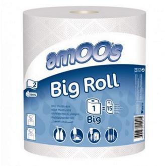 Бумажные полотенца BIG ROLL, 2 слоя, 400 л, 100% целлюлоза, 1 рул/<wbr>упак, белый (FE01075) - Officedom (1)