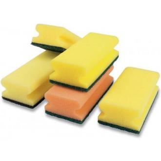 Губка с абразивом extra strong, зеленый/<wbr>желтый 135 x 70 x 45 10шт/<wbr>уп. (FE30531) - Officedom (1)