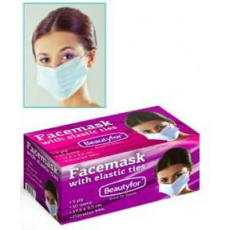 Маска медицинская одноразовая, 3-сл, 50 шт/<wbr>уп, Beautyfor - Officedom (1)
