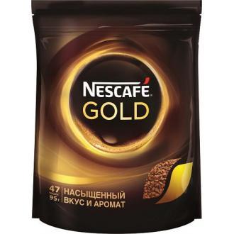 Кофе Nescafe Gold, 95 г, вакуум. упаковка - Officedom (1)
