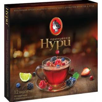 Набор Коллекция чая принцесса Нури 12 видов по 1,5 гр х 12 шт., в пакетиках - Officedom (1)
