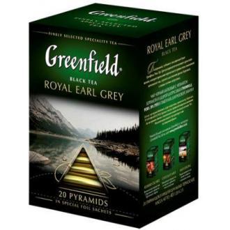 Чай черный Gf Royal Earl Grey с цедрой цитрусовых и ароматом бергамота, 20х2г, пирамидки - Officedom (1)