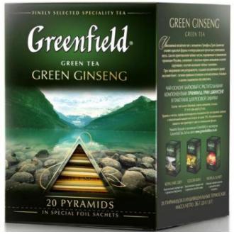 Чай зеленый Gf Green Ginseng китайский, 20х2г, пирамидки - Officedom (1)