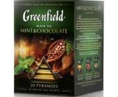 Чай черный Gf Mint & Chocolate со вкусом мяты ароматом темного шоколада, 20х1,8г, пирамидки