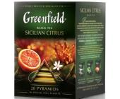 Чай черный Gf Sicilian Citrus с ароматом красного апельсина, 20х1,8г, пирамидки   OfficeDom.kz