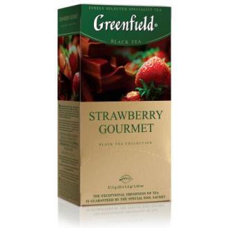 Чай черный Gf Strawberry Gourment со вкусом и ароматом шоколада и клубники, 25х1,5г - Officedom (1)