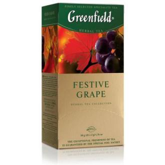 Чай травяной Gf Festive Grape, с ароматом красного винограда, 25х2г - Officedom (1)