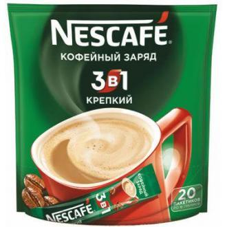 Кофе Nescafe Strong, 3 в 1, растворимый, 20 шт/<wbr>уп - Officedom (1)
