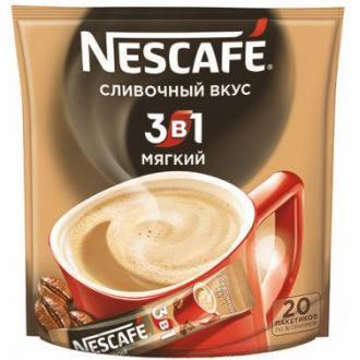 Кофе Nescafe Mild, 3 в 1, растворимый, 20 шт/<wbr>уп - Officedom (1)