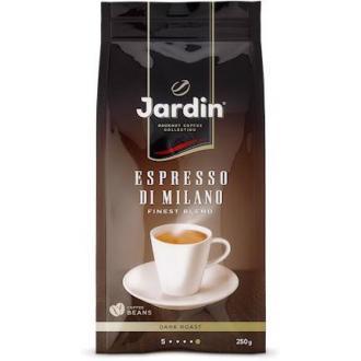 Кофе в зернах Jardin Espresso stile di Milano, 250 гр, вакуум. упак. - Officedom (1)