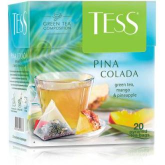 Чай зеленый Tess Pina Colada, 20 х 1,8 г, пирамидки - Officedom (1)
