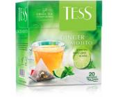 Чай зеленый Tess Ginger Mojito, 20 х 2 г, пирамидки | OfficeDom.kz