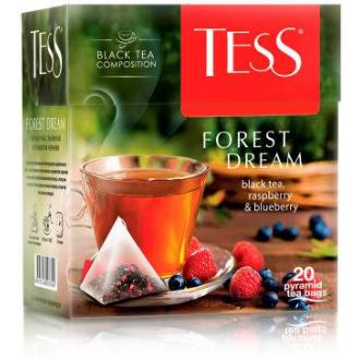 Чай черный Tess Forest Dream, 20 х 1,8 г, пирамидки - Officedom (1)