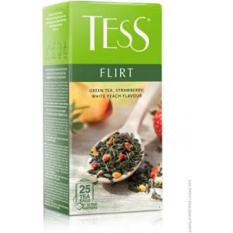 Чай зеленый Tess Flirt, 25 х 1,5 г, в пакетиках - Officedom (1)