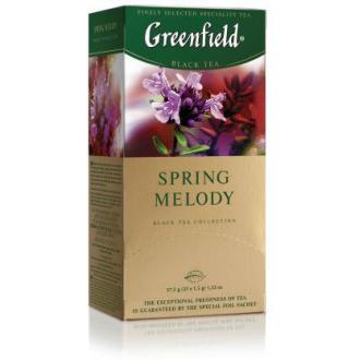 Чай черный Gf Spring Melody, индийский с душистыми травами и фруктовым ароматом, 25x1,5 г - Officedom (1)
