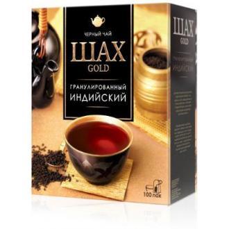 Чай черный Шах Gold, 100 х 2 г, в пакетиках - Officedom (1)
