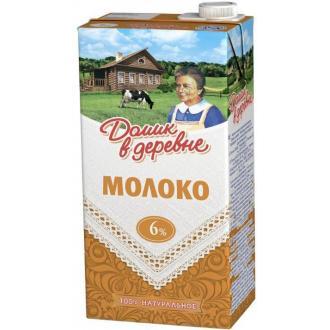 Молоко Домик в деревне, 6% жирности, 0,95 л - Officedom (1)