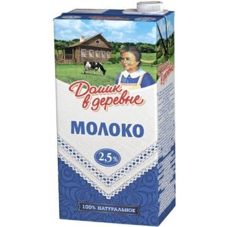 Молоко Домик в деревне, 2,5% жирности, 0,95 л - Officedom (1)
