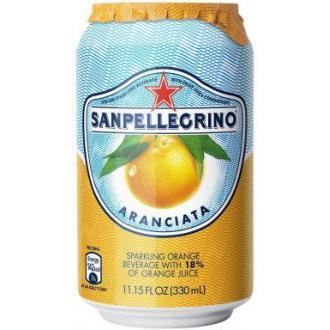 Напиток сокосодержащий San Pellegrino Aranciata газированный, апельсин, 0,33 л, ж/<wbr>б - Officedom (1)