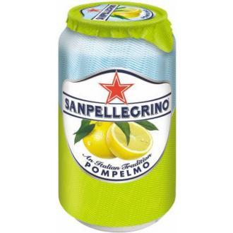 Напиток сокосодержащий San Pellegrino Pompelmo газированный, грейпфрут, 0,33 л, ж/<wbr>б - Officedom (1)