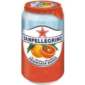 Напиток сокосодержащий San Pellegrino Aranciata Rossa газированный, красный апельсин, 0,33л, ж/<wbr>б - Officedom (1)
