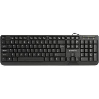Клавиатура проводная Defender OfficeMate HM-710 KZ, черный - Officedom (1)