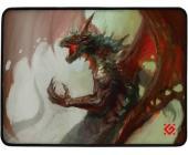 Коврик для мышки игровой Defender Dragon Rage M 360x270x3 мм, ткань + резина | OfficeDom.kz